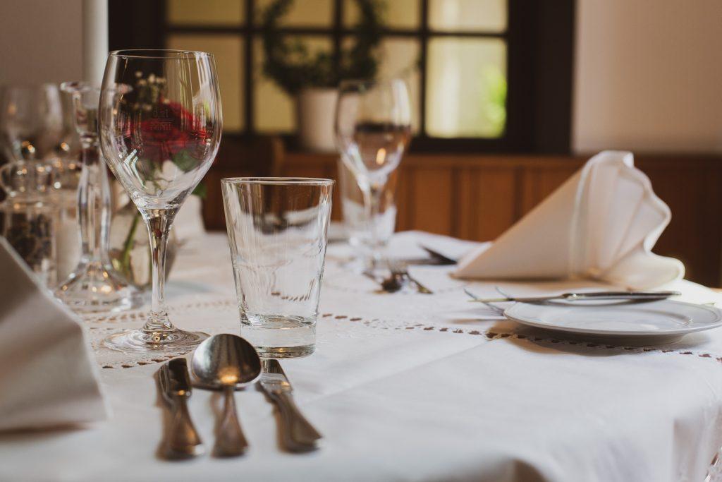 Tisch im Goldenen Schwan